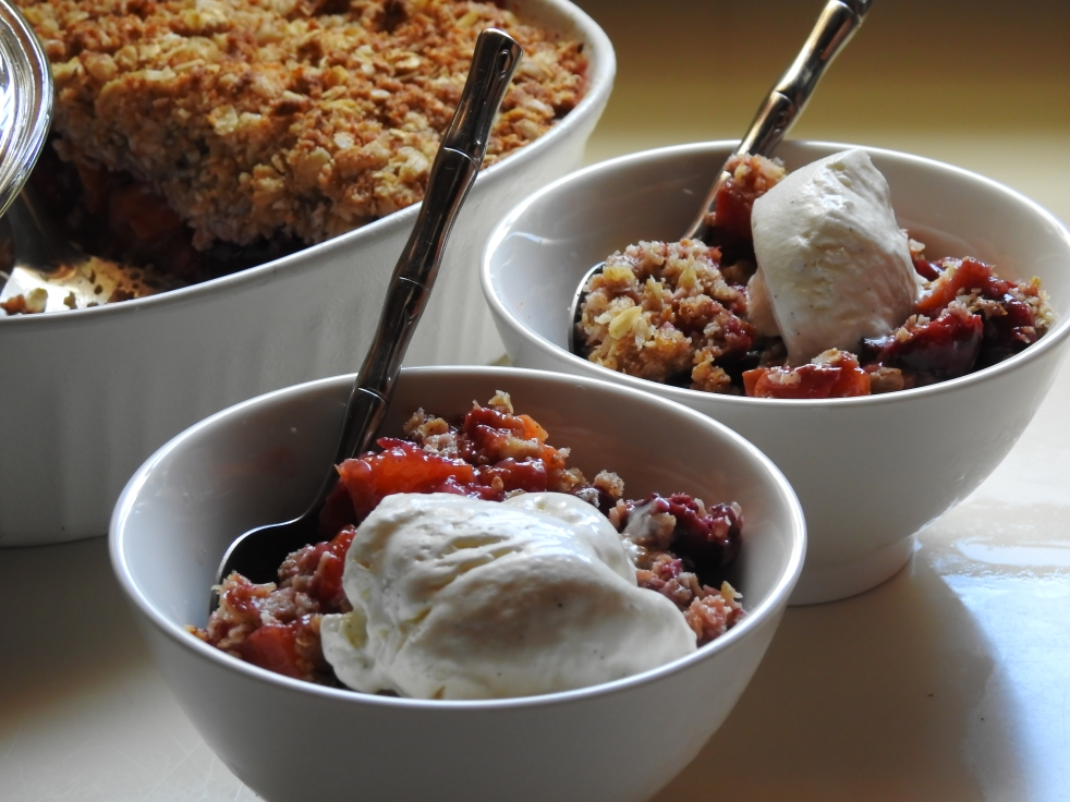 Mixed Stone Fruit Crumble